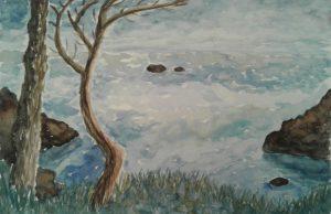 Diane P - seascape coleton fishacre inspired by Renoir
