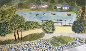 Diane S - Lake Maggiore inspired by Renoir