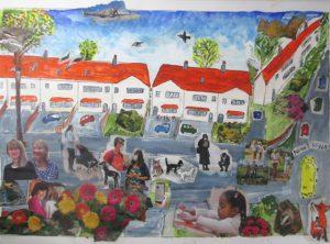 Ann - neighbourhood collage inspired by Romare Bearden