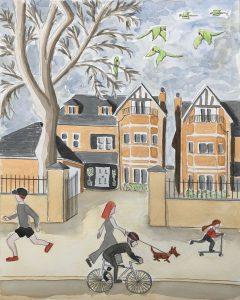 Kate - neighbourhood painting inspired by Lowry