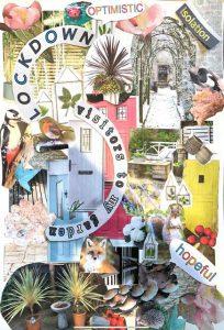 Lesley - neighbourhood collage inspired by Romare Bearden
