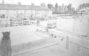 Amanda - neighbourhood pencil drawing