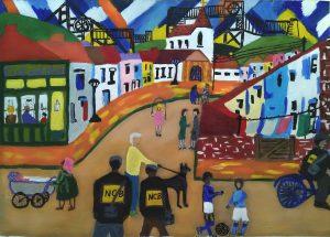 Sue L - painting of Yorkshire neighbourhood