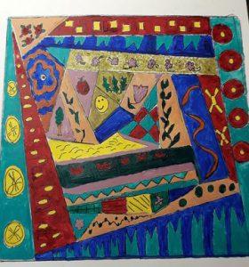 Mikki Bate - Patchwork Cushion Acrylic