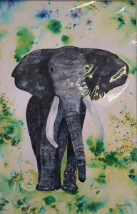 Sally Waters - Elephant watercolour
