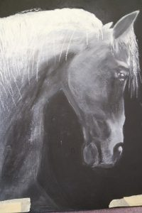 Sally Waters - Horse Oil and Pastels