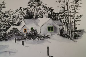 Val Leigh - House Pen and Ink
